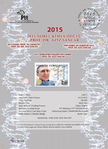 Prof.Dr. Aziz Sancar Stamp Details - TURKEY - Cyrstal Concepts