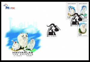 The Animals Turkish Stamps FDC - Crystal Concepts